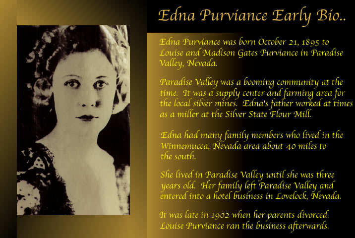 Edna Purviance life in...