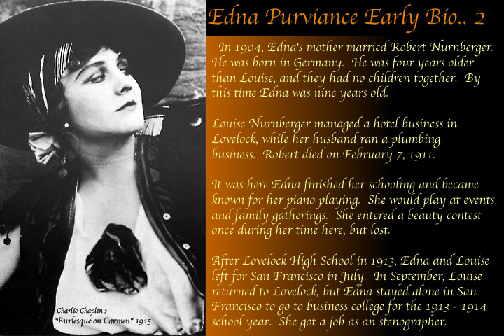 edna purviance early life in lovelock nevada with robert nurnberger her stepfather before leaving for san francisco