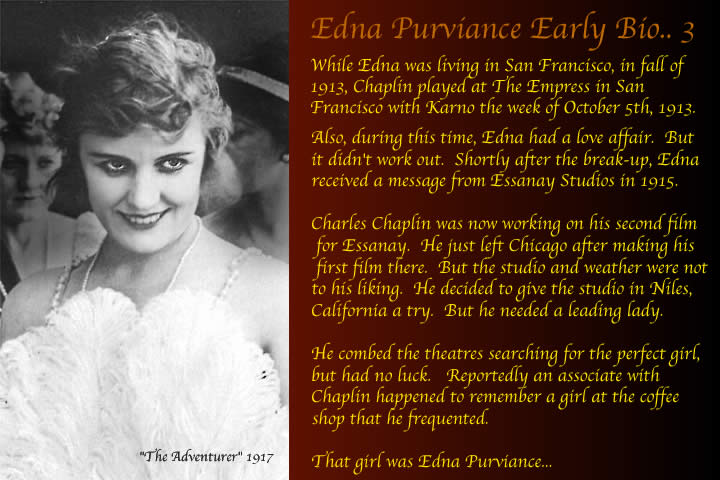 edna purviance early life san francisco before edna met charlie chaplin at essanay studios