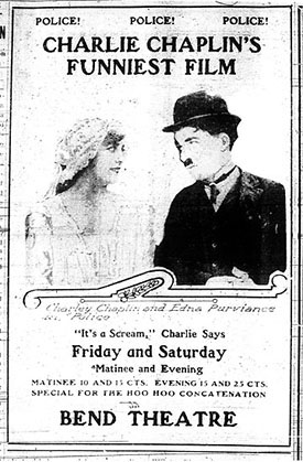 Edna Purviance and Charlie Chaplin in Police