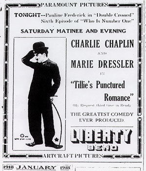 Charlie Chaplin and Marie Dressler in Tillie's Punctured Romance