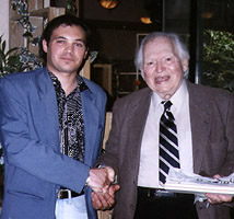 Dominique Dugros and Dinky Dean Riesner - Chaplin Festival - May 2000 in London