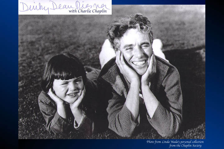 Dinky Riesner and Charle Chaplin 1922