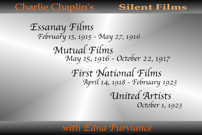 charlie chaplin silent films with edna purviance