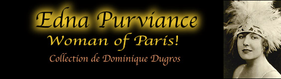 Edna Purviance Woman of Paris  Dominique Dugros