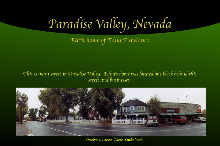 edna purviance birth home of paradise valley nevada